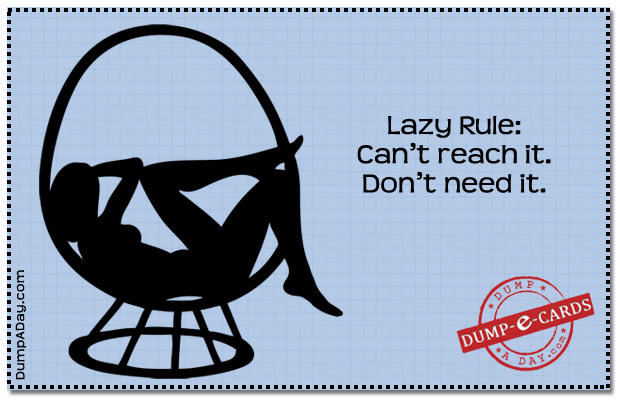 Lazy Rule Dump E-card