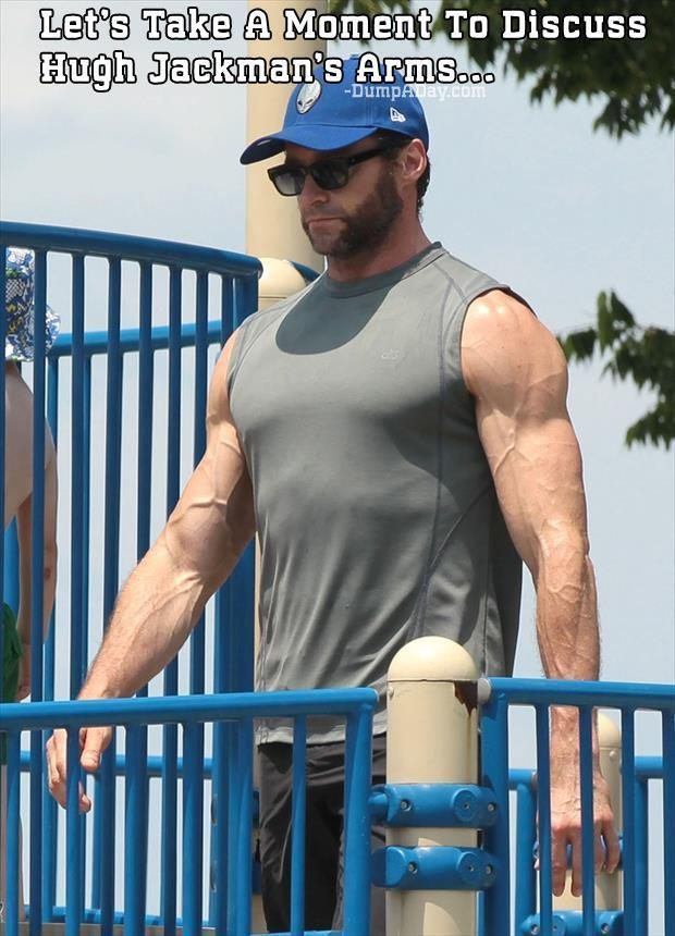 Let's Take A Moment To Discuss Hugh Jackman's Arms