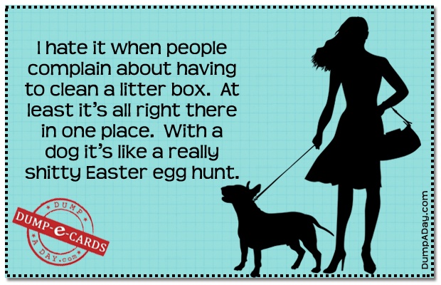 Litter box Dump E-card