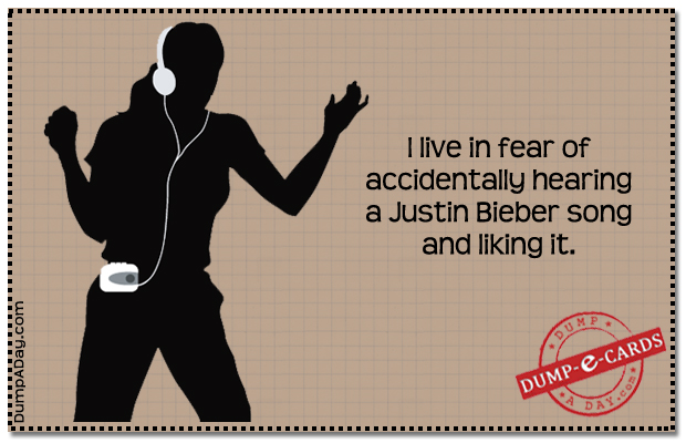 Live in fear Dump E-card