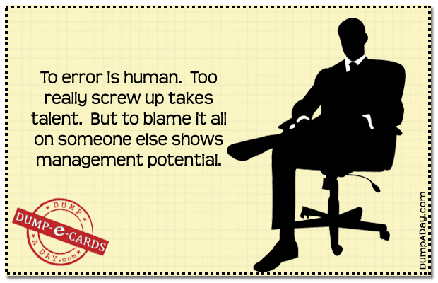 Management potential Dump E-card