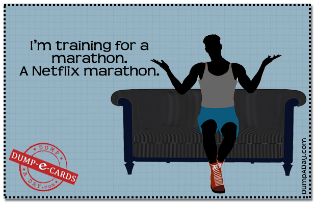 Marathon training Dump E-card