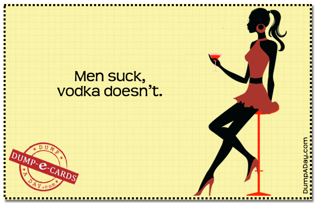 Men suck  Dump E-card