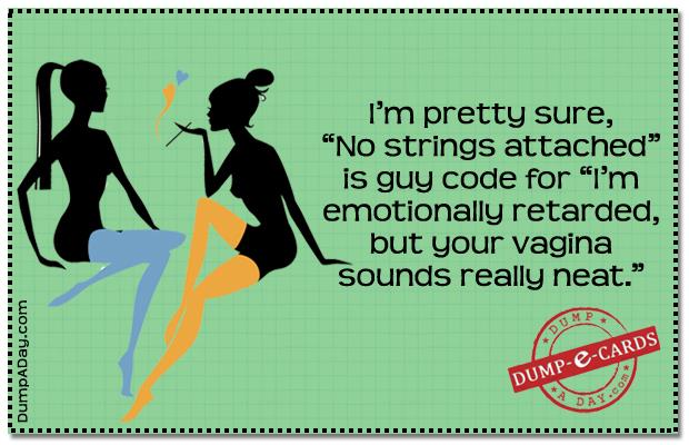 No strings attached Dump E-card