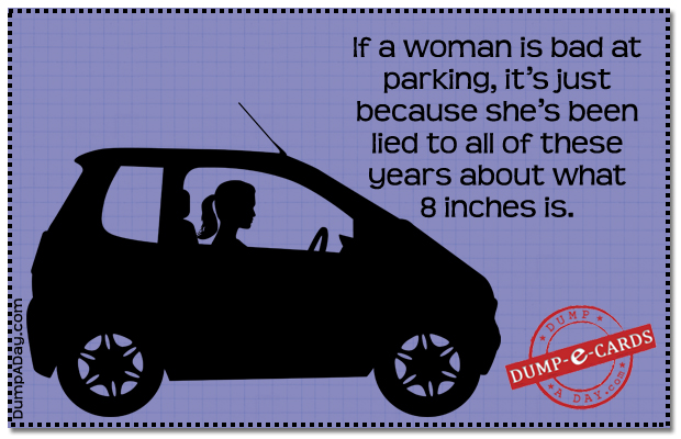 Women and parking Dump E-card