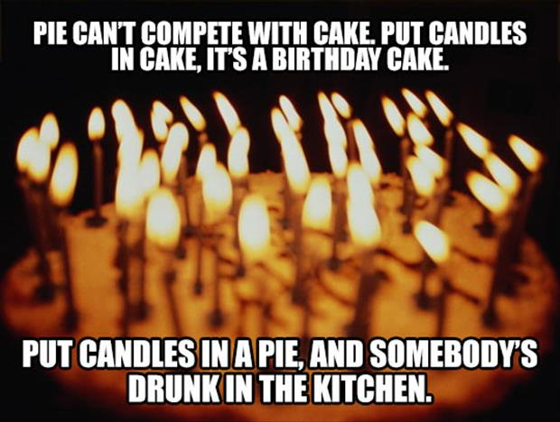 candles in a cake