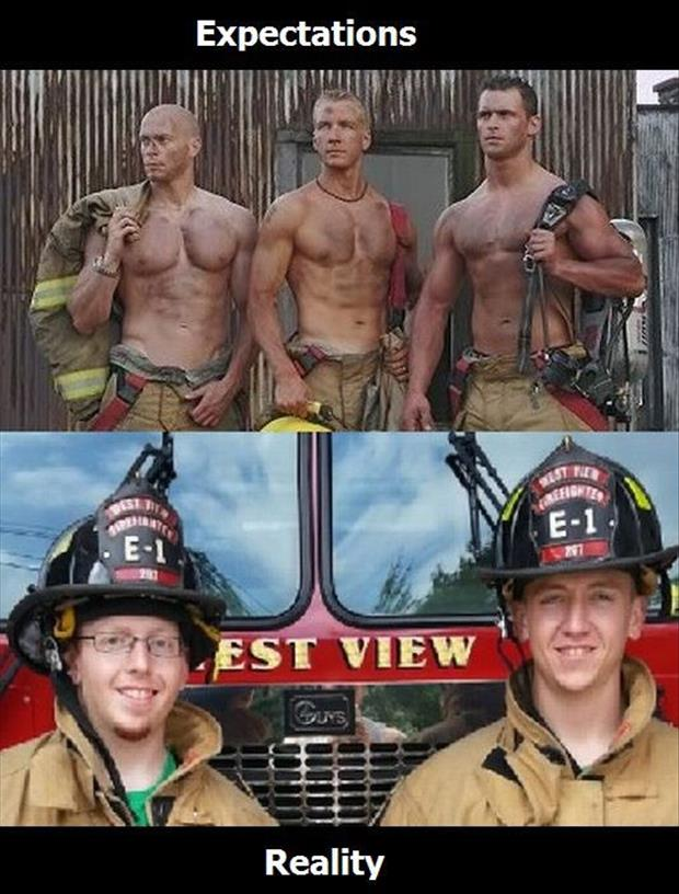 expectation vs reality firefighters