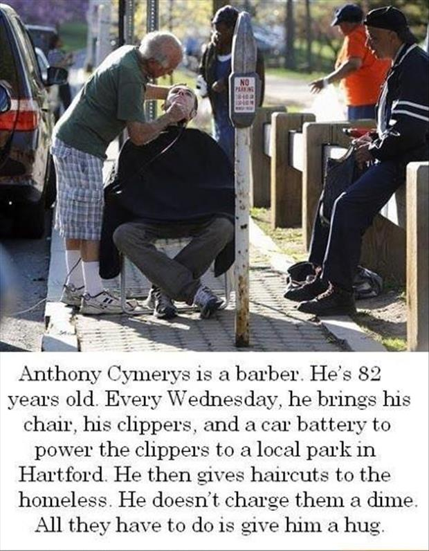 faith in humanity restored giving hair cuts to the homeless