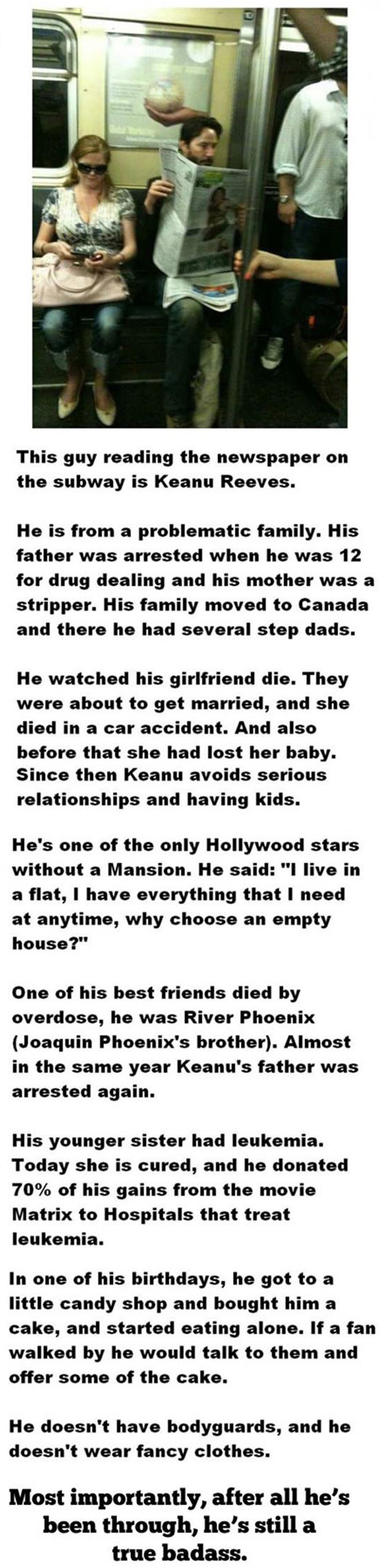 faith in humanity restored, keanu reeves