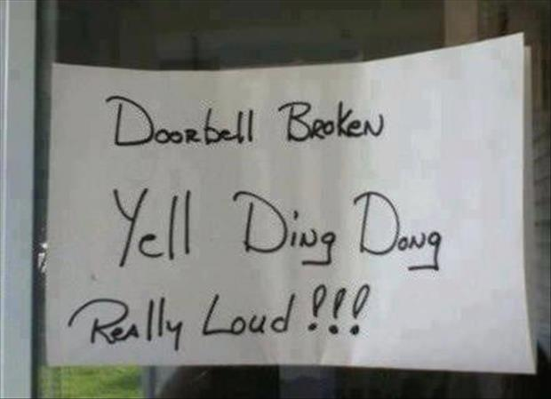 Funny door bells dump a day for Door quotes funny
