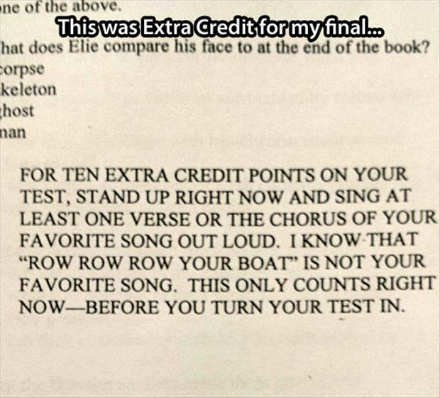 funny final exam questions