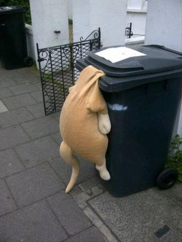 funny garbage can