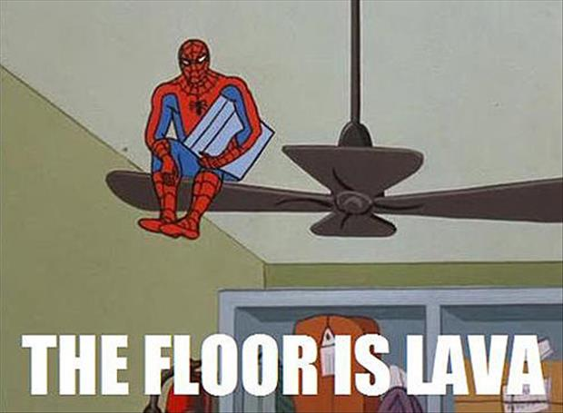 Funny spiderman meme pictures 10 dump a day for Floor is lava meme