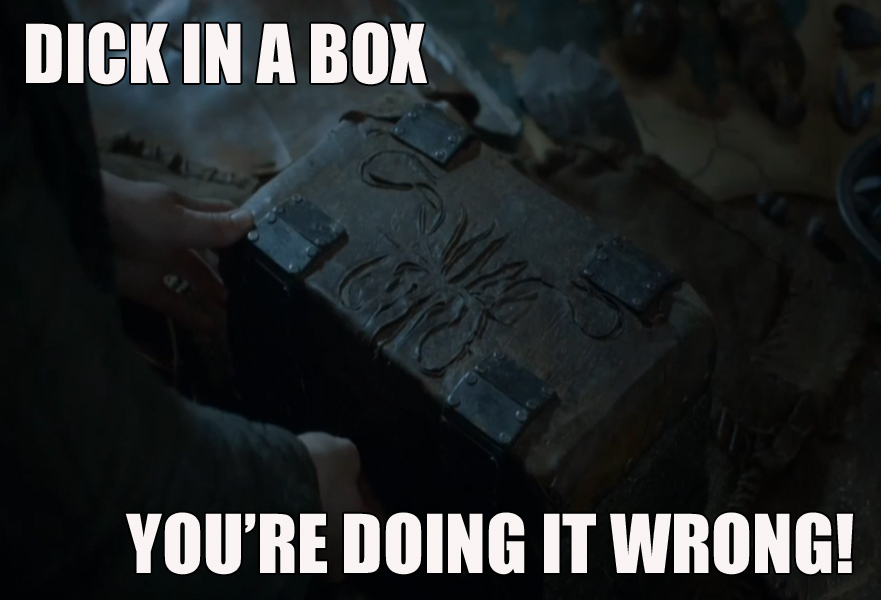 game of thrones dick in a box