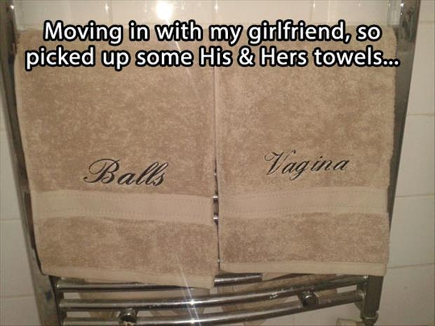 his and her towels funny pictures