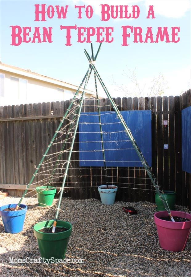 how to build a bean teepee