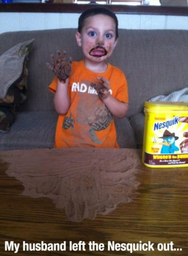 kids make a mess funny pictures