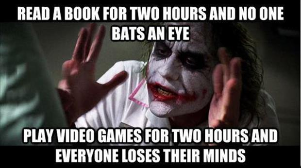 reading a book vs playing video games