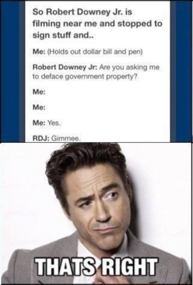 robert downey jr funny autographs