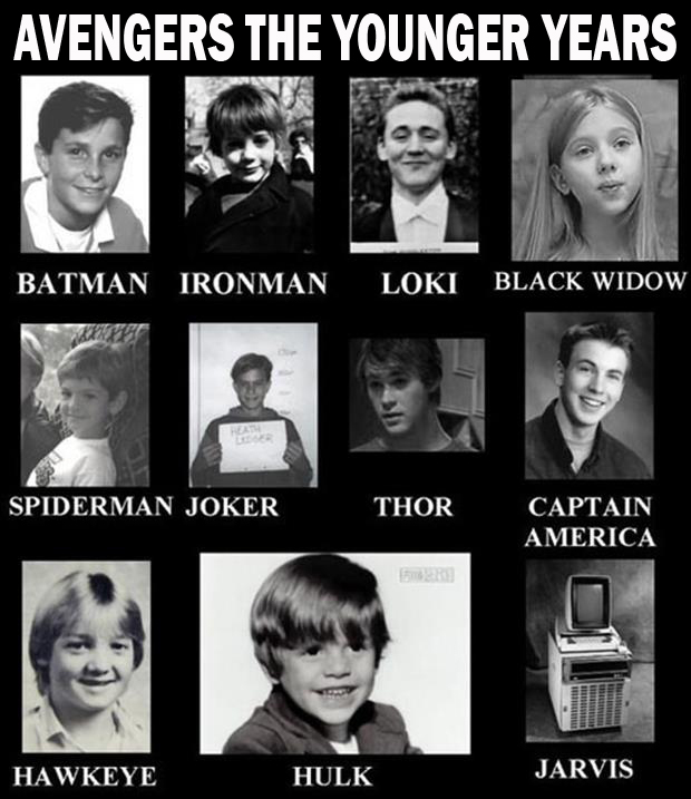 the avengers yearbook photos