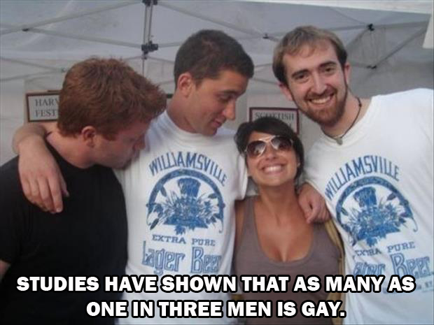 they say one in three men is gay