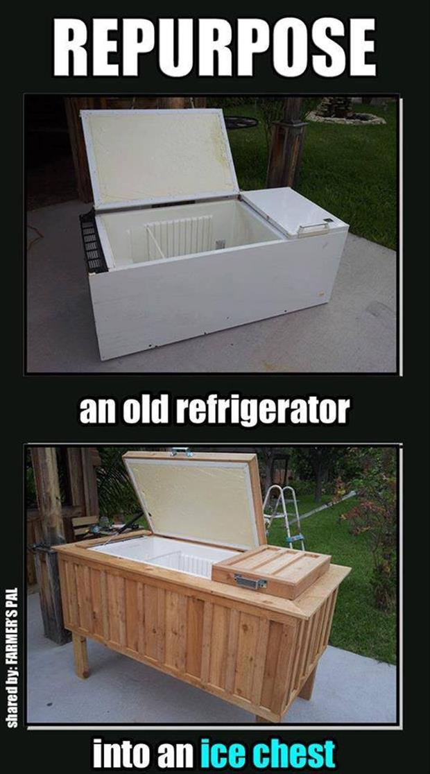 turn a fride into an ice chest