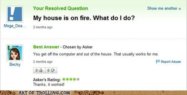 what to do when your house is on fire