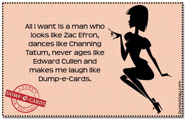 All I want Dump E-card