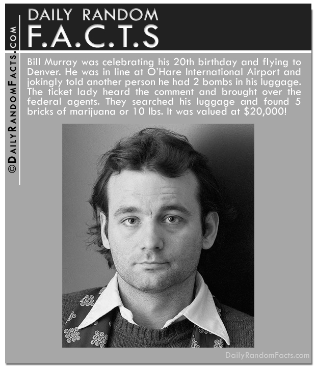 Daily Random Facts-Bill Murray