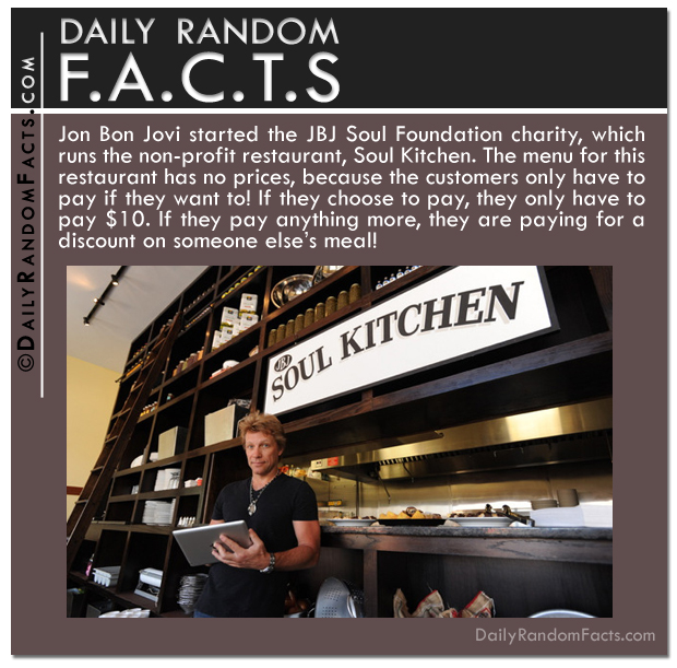 Daily Random Facts- Jon Bon Jovi Soul Foundation