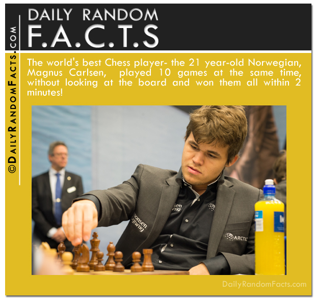 Daily Random Facts- Magnus Carlsen