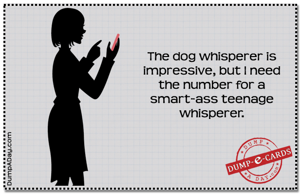 Dog whisperer- Dump E-card