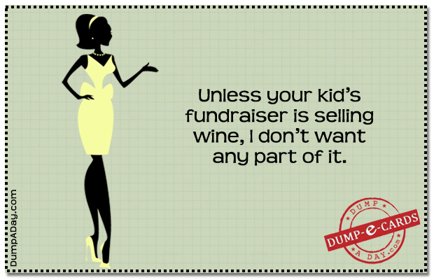 Dump E-card - Wine fund raising