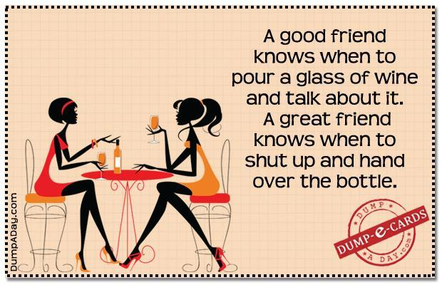 Good friend vs great friend Dump E-card