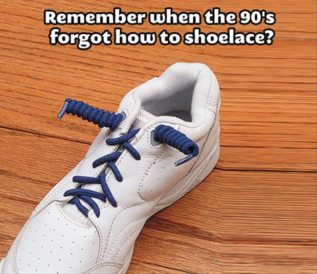 I forgot how to shoelace