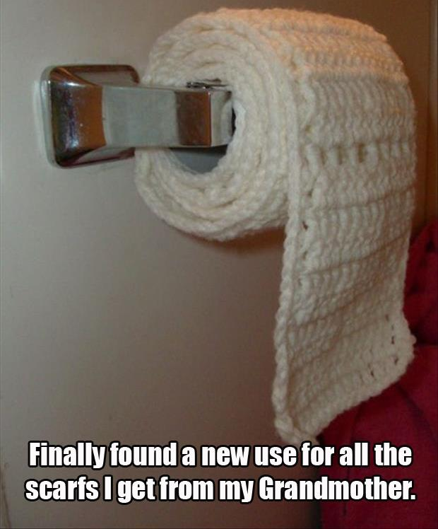 Just because you can crochet toilet paper doesn't mean you should