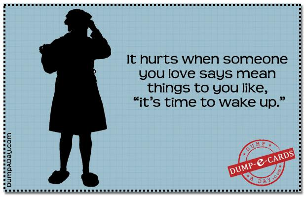 Mean things Dump E-card