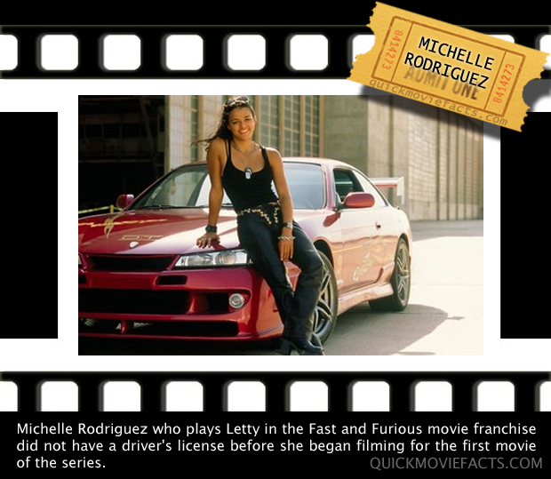 Michelle Rodriguez Fast and Furious Fact