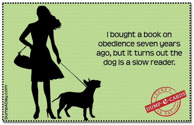Obedience book Dump E-card