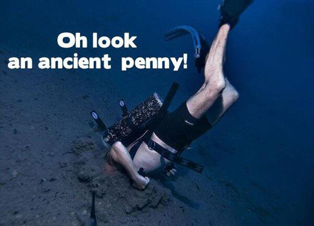 Oh look a penny diver
