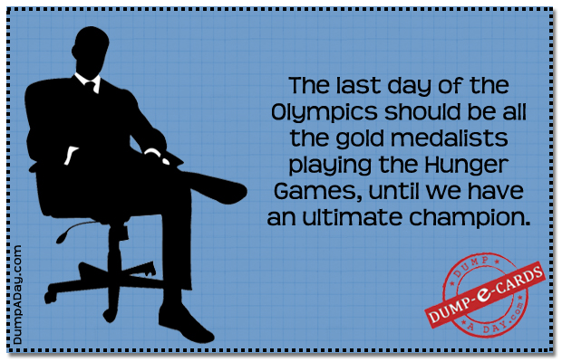 Olympics Hunger Games Dump E-card