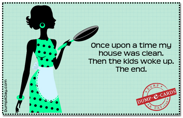 Once upon a time Dump E-card