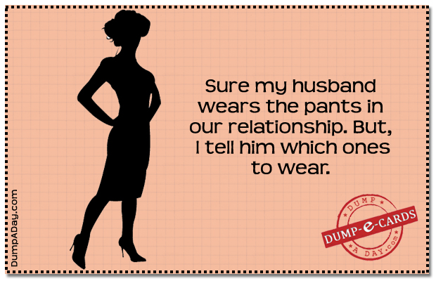 Pants in the relationship Dump E-card