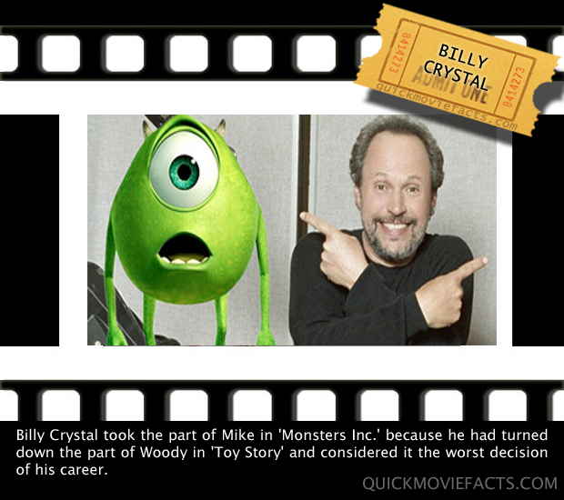 Quick Movie Facts- Billy Crystal in Monster Inc