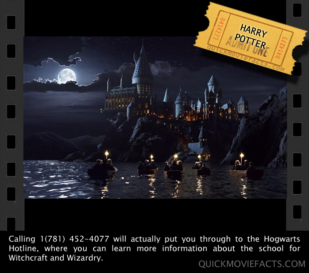 Quick Movie Facts- Hogwarts Hotline