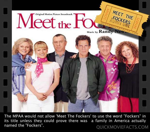 Quick Movie Facts- Meet the Fockers Fact
