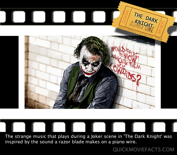 Quick Movie Facts- The Dark Knight Joker