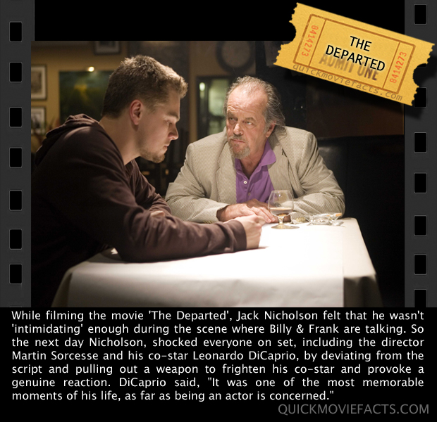 Quick Movie Facts- The departed