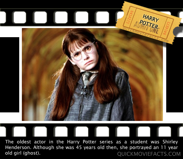 Quick Movie Facts- harry potter movie fact