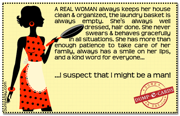 Real Woman Dump-E-Card